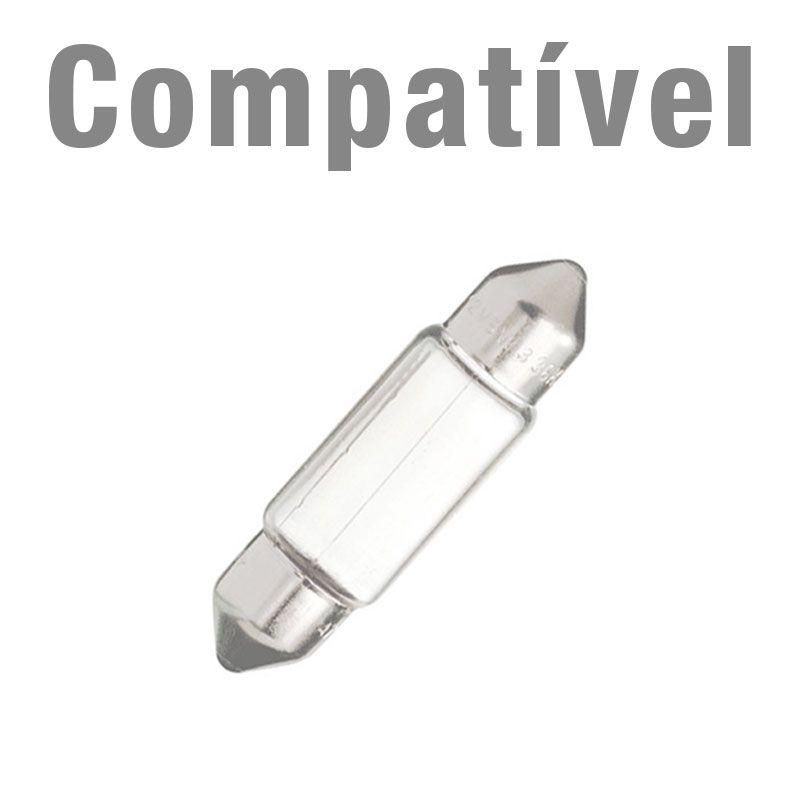 Lâmpada Torpedo 36mm 6 Leds Smd 5050  Branco Canbus