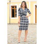 2553 - Vestido alfaiataria c/ forro det. ziper decote