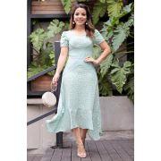 2697 - Vestido em bengaline twillcom recortes em crepe relevo animal print