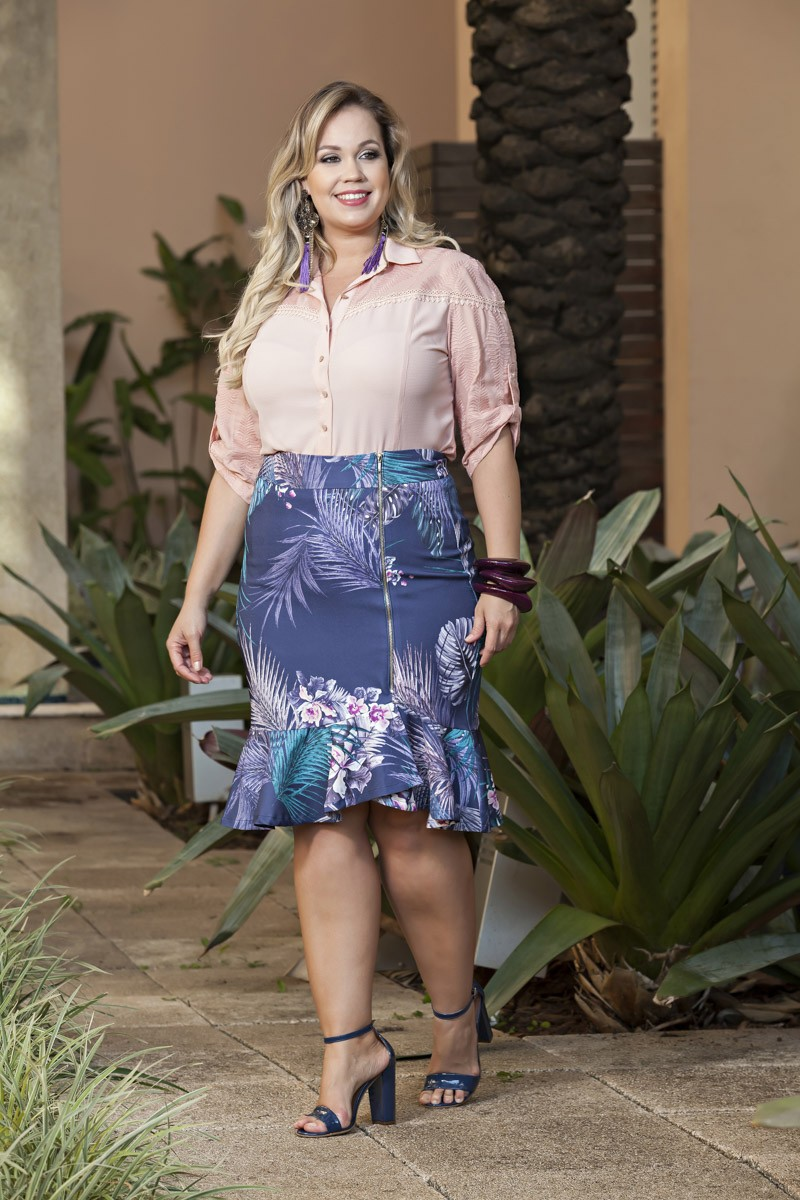 1983- Conj: Plus Size estampa exclusiva Kauly e camisa lasy