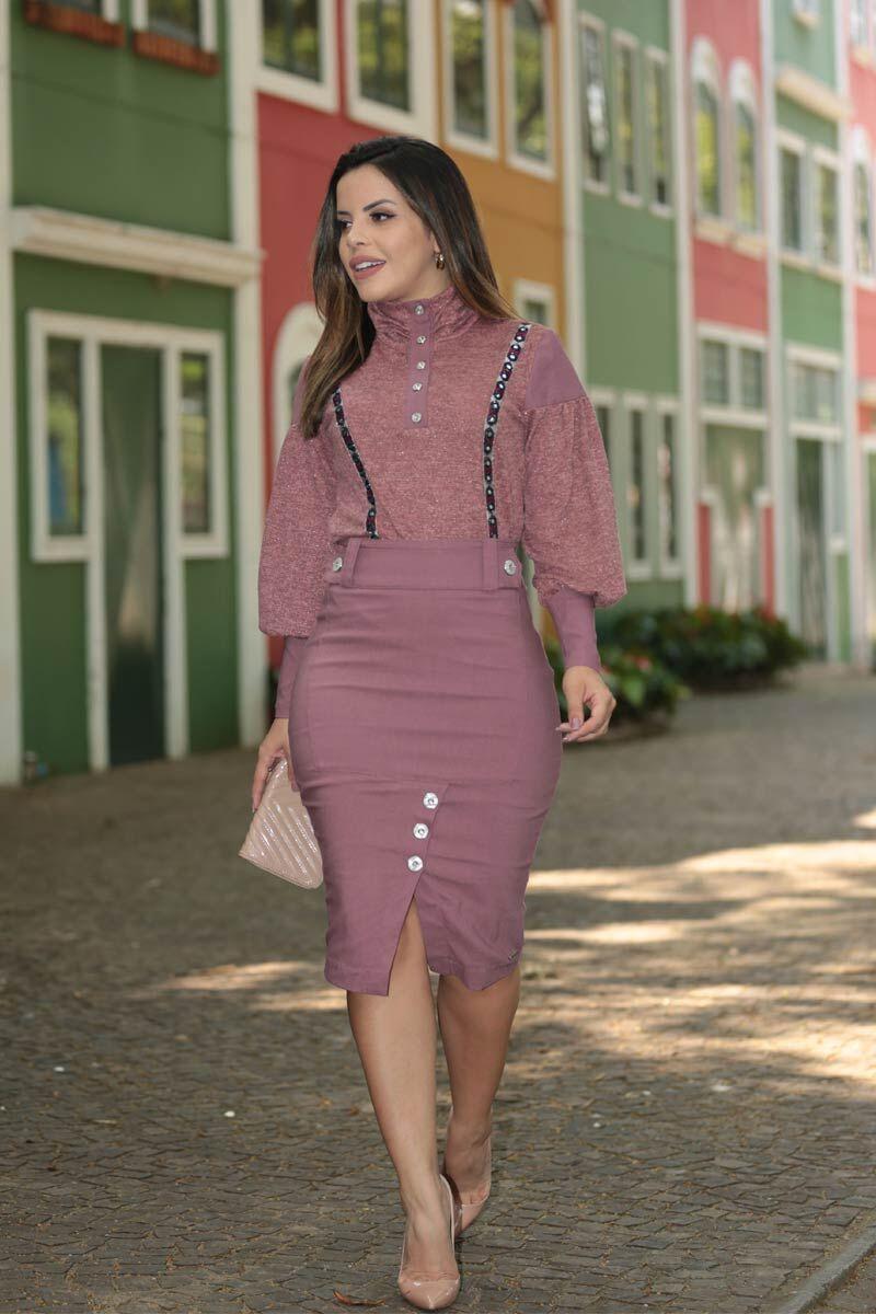 2522- Blusa cashimiere tricot com fita bordada