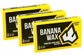 KIT 3 Parafinas Banana WAX Água Quente 80g