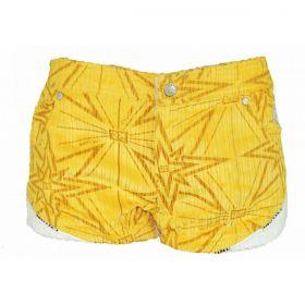 Short Cyclone Veludo Star Amarelo