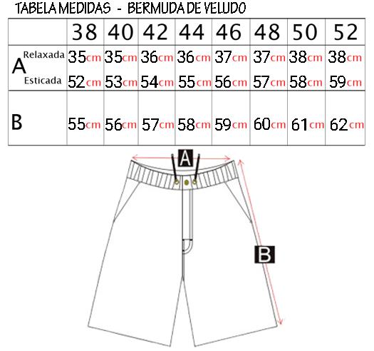 Bermuda Cyclone Veludo Fashion