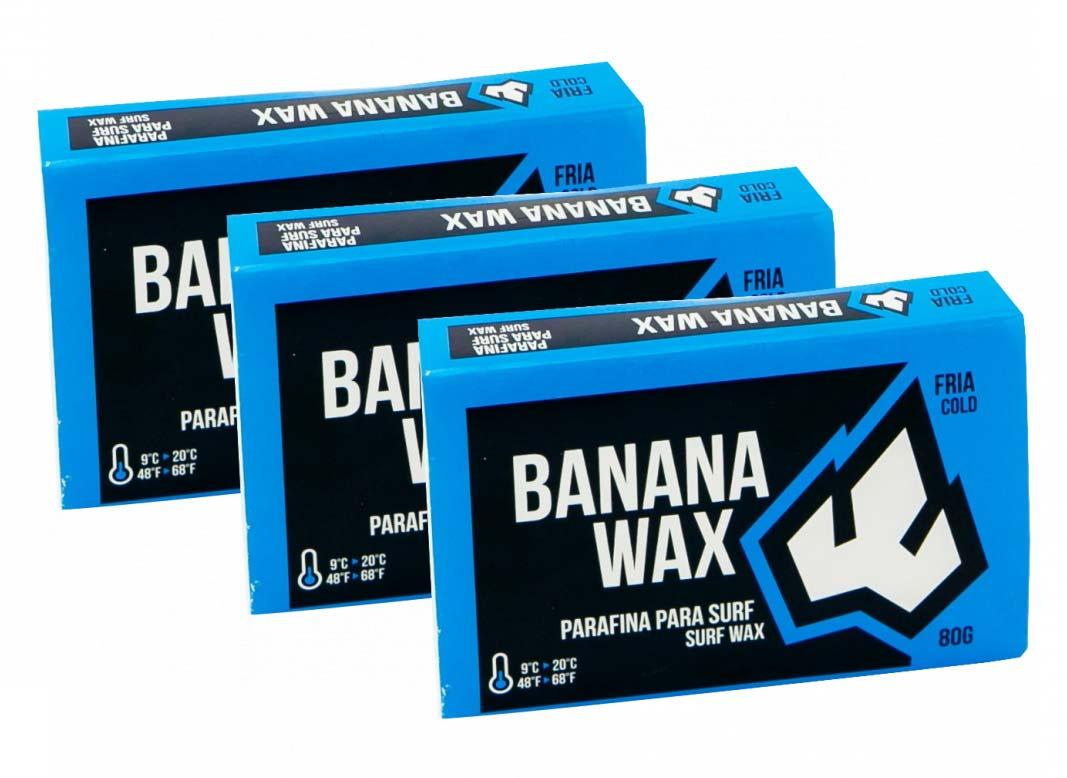 KIT 3 Parafinas Banana WAX Água Fria 80g