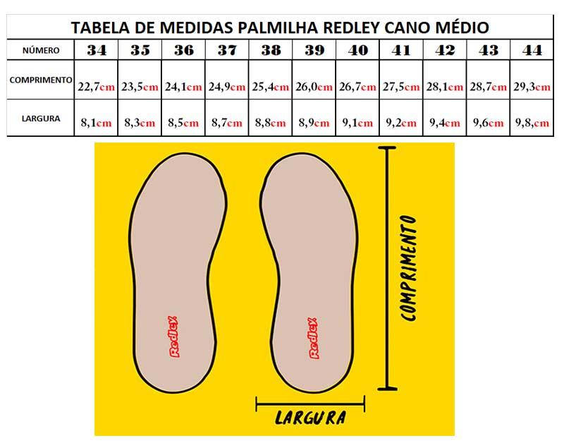 Tênis Redley Originals Cano Médio Vermelho