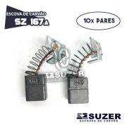 Escova de Carvão Serra Mármore Bosch 1548  GDC 14-40 - SZ 167A (10 PARES)