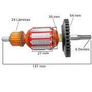 Induzido (rotor) para furadeira bosch 6640- Super hobby