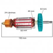 Induzido (Rotor) para esmerilhadeira bosch 1323 Gws 12u 193mm