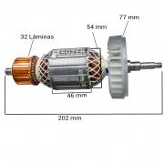 """Induzido (Rotor) para esmerilhadeira makita GA7020 / GA9020 / MGA700 7"""" Dongcheng"""