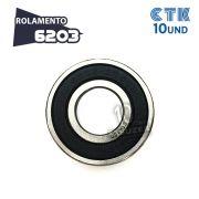 KIT 10 UNID - Rolamento 6203 C3 - CTK