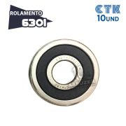 KIT 10 UNID - Rolamento 6301 C3 - CTK