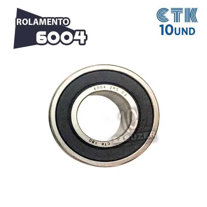 KIT 10 UNID - Rolamento 6004 C3 - CTK