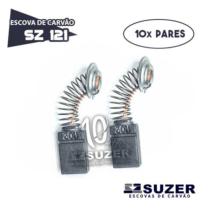 Escova de Carvão Serra Mármore Makita - SZ 121/ CB303 (10 PARES)