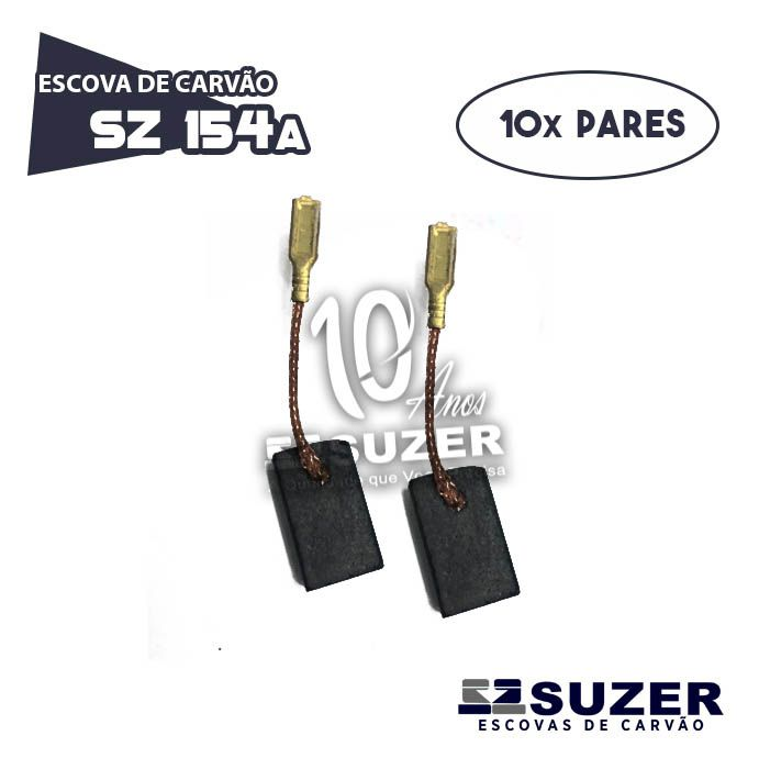 ESCOVA DE CARVÃO SZ 154 AB - Esmerilhadeiras Bosch 1800