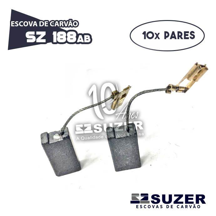 ESCOVA DE CARVAO SZ 188AB - Martelo Bosch 11388/11241 5KG