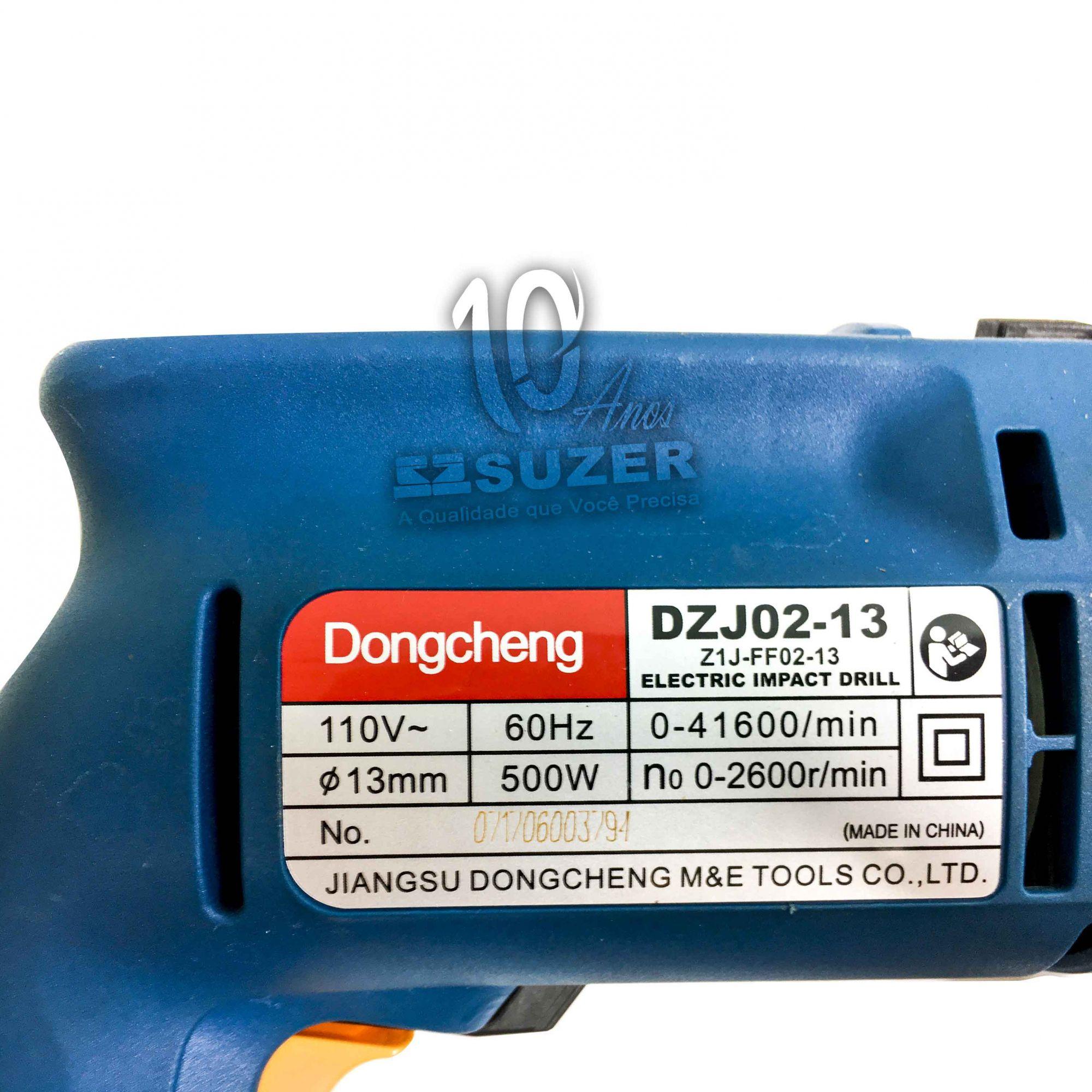 """Furadeira de Impacto 1/2"""" Eletronica Dongcheng 220V"""