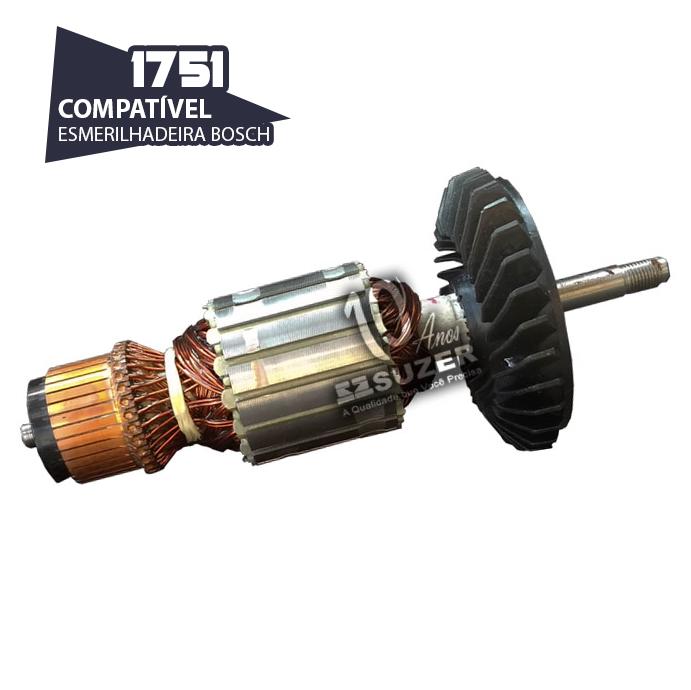 Induzido para Lixadeira/ Esmerilhadeira Bosch 1751 GWS 20-180