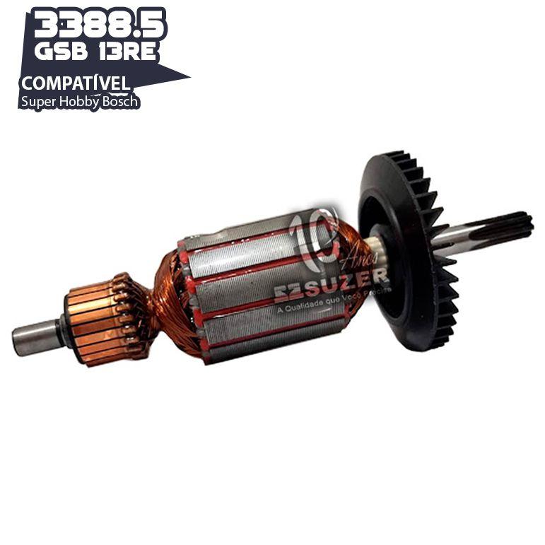 Induzido para Furadeira Bosch 3388.5 Super Hobby GSB 13RE/