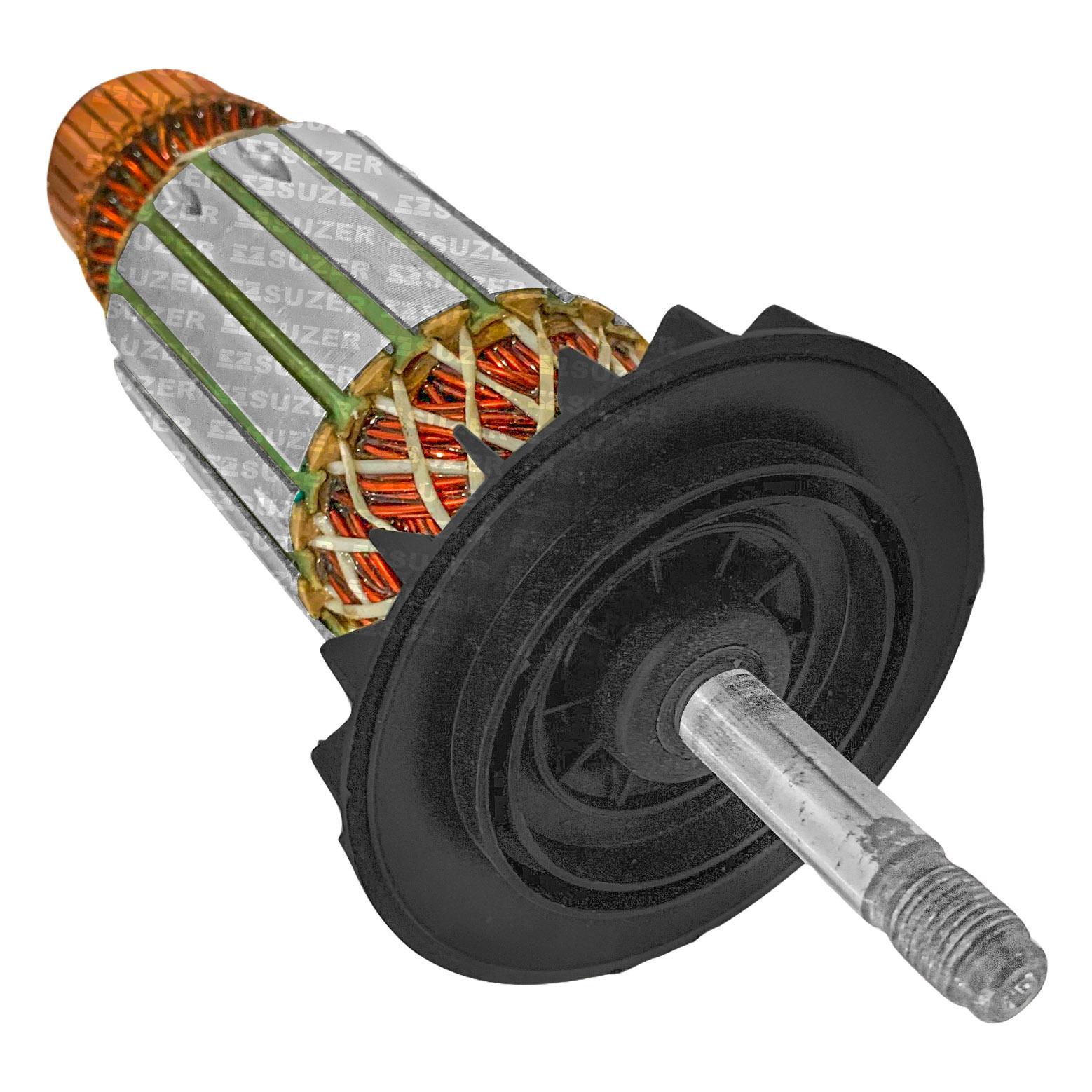 """Induzido (Rotor) para esmerilhadeira bosch 1361 7"""" Gws 24-180 220mm"""