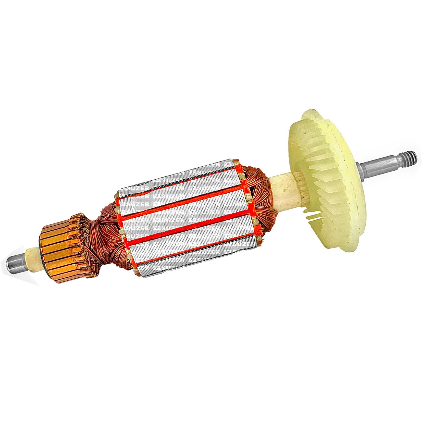 """Induzido (Rotor) para esmerilhadeira bosch 1375 Gws 6-115 4 1/2"""" 155mm"""