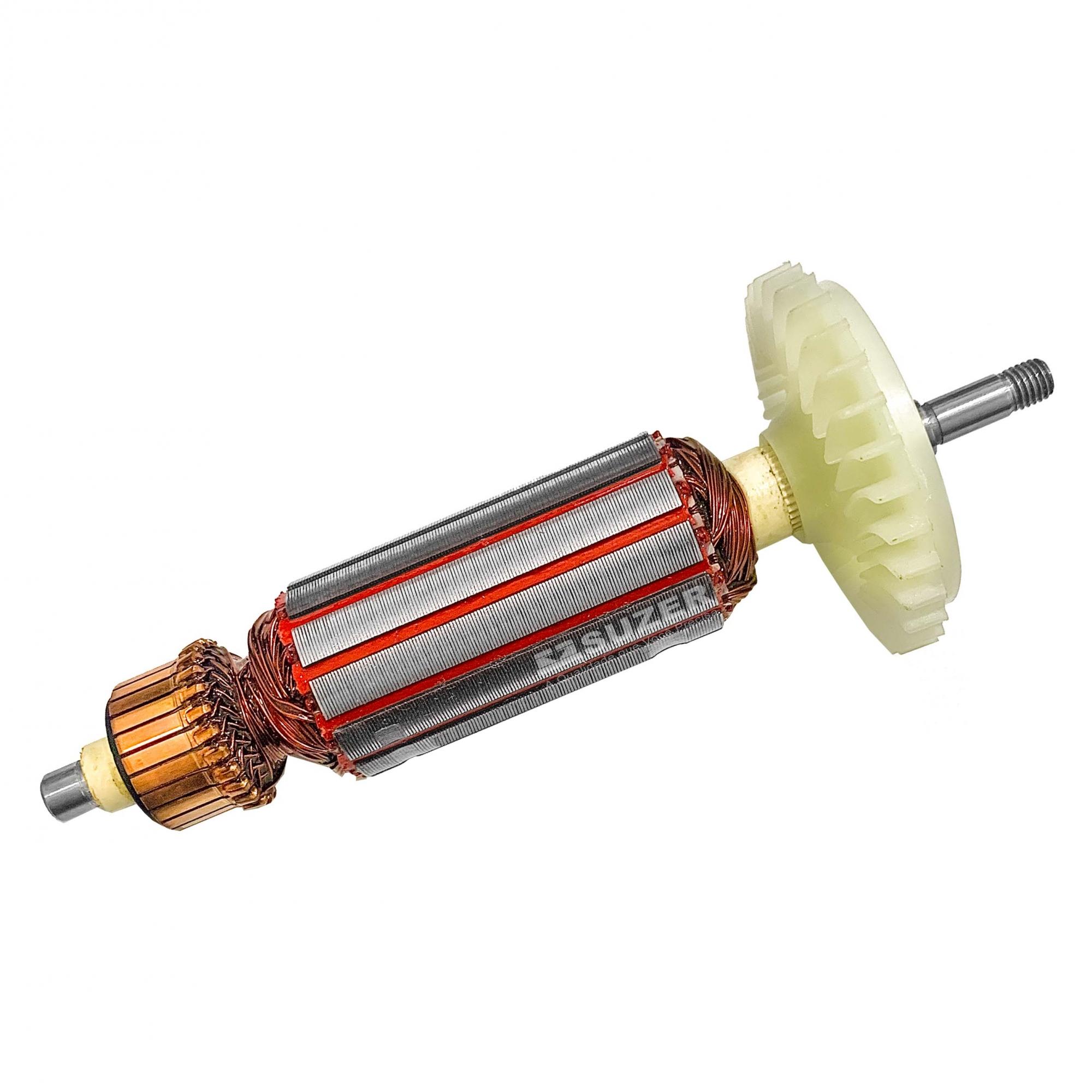 """Induzido (Rotor) para esmerilhadeira bosch 1388 4.1/2"""" Gws 7-115 169mm"""