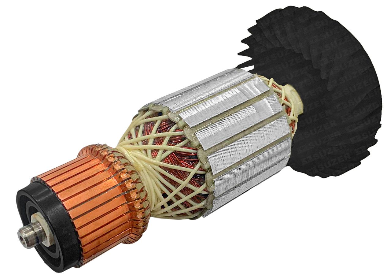 """Induzido (Rotor) para esmerilhadeira bosch 1751Gws 20-180 7"""" 205mm"""