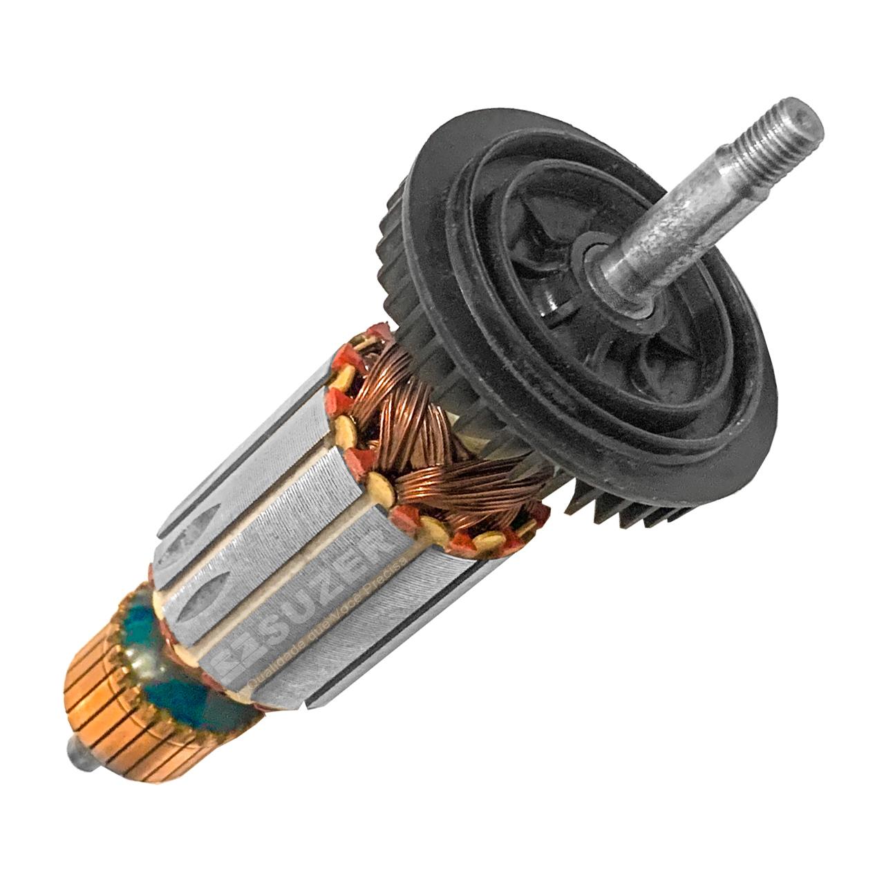 Induzido (Rotor) para esmerilhadeira bosch 1820/ 1800 Gws 8-115 / Gws 8-125 163mm