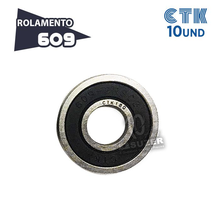 KIT 10 UNID - Rolamento 609 C3 - CTK