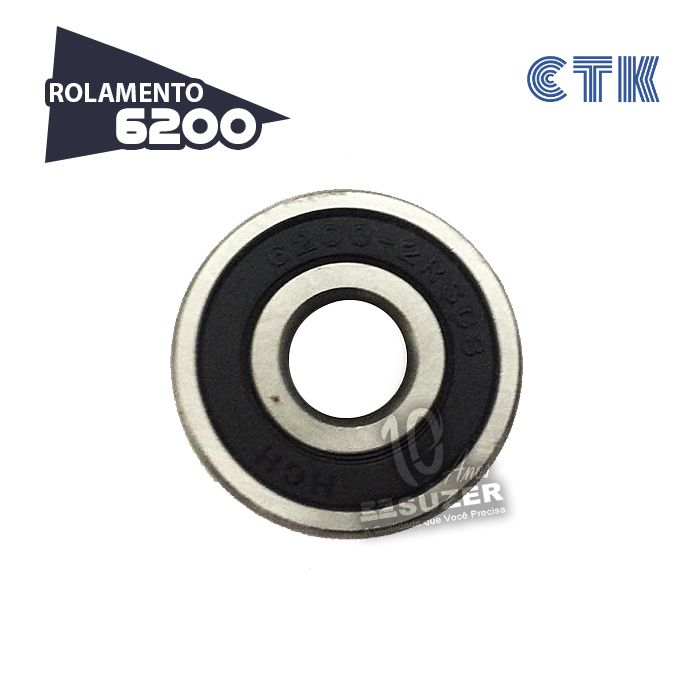 KIT 10 UNID - Rolamento 6200 C3 - CTK
