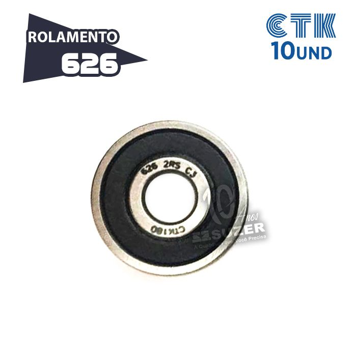 KIT 10 UNID - Rolamento 626 C3 - CTK