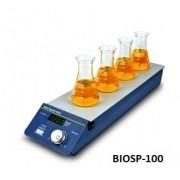 AGITADOR MAGNÉTICO DIGITAL MULTIPOSIÇÕES SEM AQUECIMENTO COM CAPACIDADE PARA AGITAR ATÉ 4 X 400 ML (H2O) RECIPIENTES SIMULTANEAMENTE VELOCIDADE REGULÁVEL 200 A 1.200 RPM