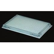 MICROPLACA PARA PCR COM SAIA, 384 POCOS, 40µL. PACOTE COM 10 UN. TRANSPARENTE