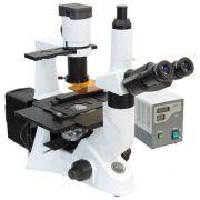 Microscópio Invertido Biológico, Trilocular Campo Claro, Contraste de Fase e Sistema de Imunofluorescência, Optica Planacromática Infinita (IOS) – Modelo: IV5100FL-BIO