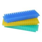 RACK ARMAZENAMENTO, 80 MICROTUBOS DE 1,5 - 2 ML, RETANGULAR, COR SORTIDA