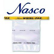 Saco plástico para coleta, transporte e armazenamento de amostras sólidas e líquidas, com arame CAPACIDADE 58 ML