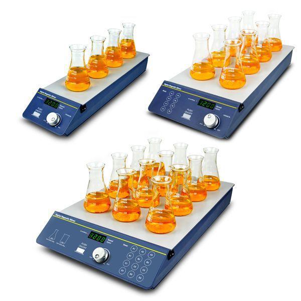 Agitador Magnético Digital de Multi-Posições, Sem Aquecimento com Capacidade para Agitar 4, 8 ou 12 Recipientes Simultaneamente – Série: BIOSP