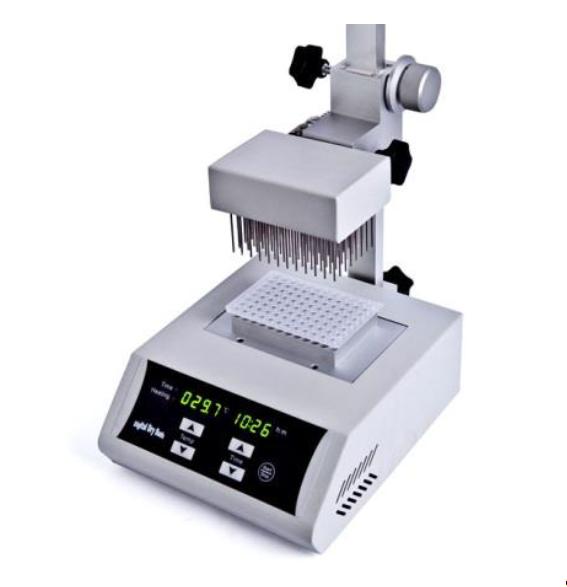 Concentrador de amostras digital com Manifold 96 agulhas para microplacas de 96 poços 0,2ml com controlador de temperatura e válvula reguladora de fluxo - Modelo BIONDK200-1A
