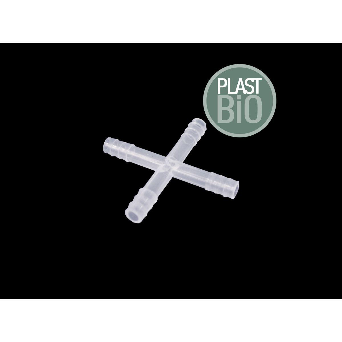 Conector para Tubos, Formato Cruz, em Polipropileno Autoclavável - Modelo: PB-CT