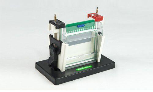 Cuba Para Eletroforese Vertical 10 cm, para o Preparo e Corrida De 2 Géis Simultâneos - Modelo: DGV-10