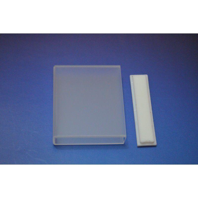 Cubeta de Quartzo com Tampa, Passo Óptico 100mm, Volume 35 mL - Modelo: Q-9