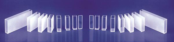 Cubetas e microcubetas de vidro ótico e quartzo