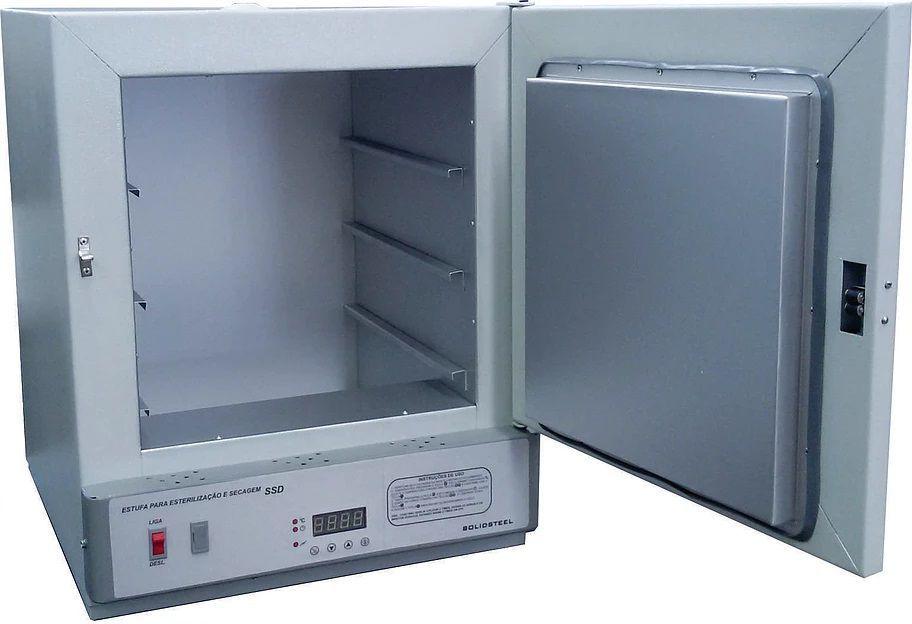 Estufa de Esterilização e Secagem, Temperatura de 50° à 250°C, Controlador Digital, Disponíveis de 11 a 280 Litros ? Modelo: SSD