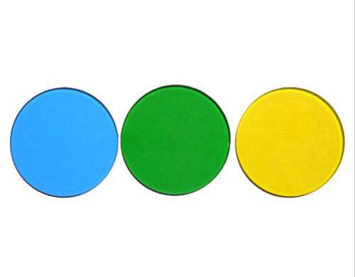 Filtro 32mm para microscópios. Cores disponíveis: Verde / Amarelo