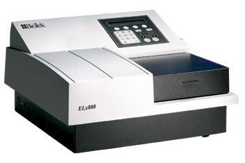Leitora de Absorbância para Microplacas 96 Poços, Agitação e Incubação, 8 Canais de Leitura, Faixa UV de 340nm, Filtros para Seleção de Comprimento de Onda - Modelo: ELx808IU