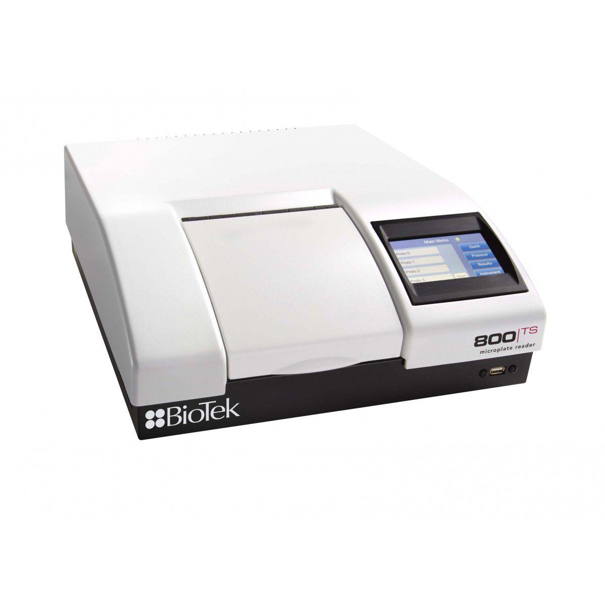 Leitora de Absorbância para Microplacas de 6 a 96 poços, Tela Touchscreen, Incubação 50°C, Agitação, Faixa de Seleção dos Filtros 400~750nm, USB - Modelo: 800TSI