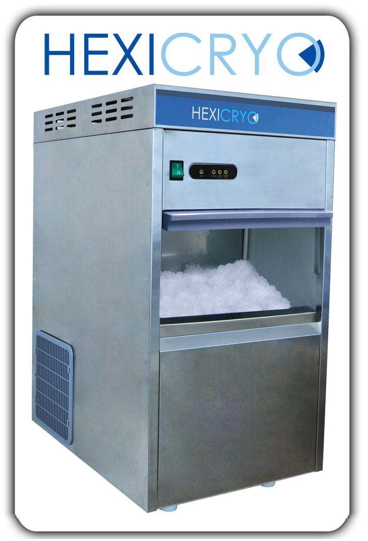 Máquina para Produção de Gelo em Escamas, Produção 40kg em 24 Horas com reservatório ? Modelo: CRYO-40EN