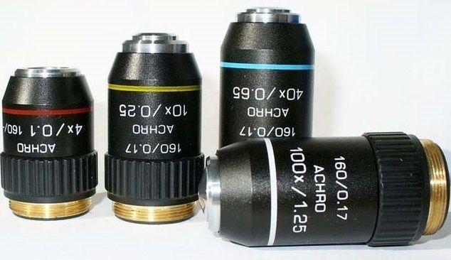 Objetivas planacromáticas para microscópio