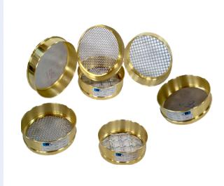 Peneiras (Tamis) Redondas para análises granulométricas para Latão 8x2 polegadas - Modelo: BT