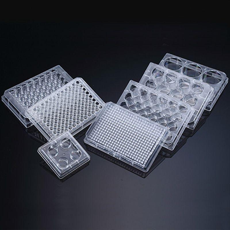 Placa de cultura celular, 96 poços, fundo redondo, PS, Individual - Modelo: 34096
